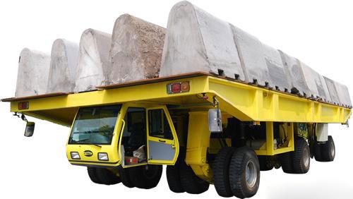 xe di chuyển dầm bê tông