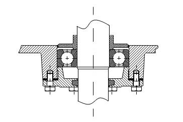 Cố định ở trên trục và trong vỏ hộp palang