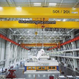 cầu trục dầm đôi 50T